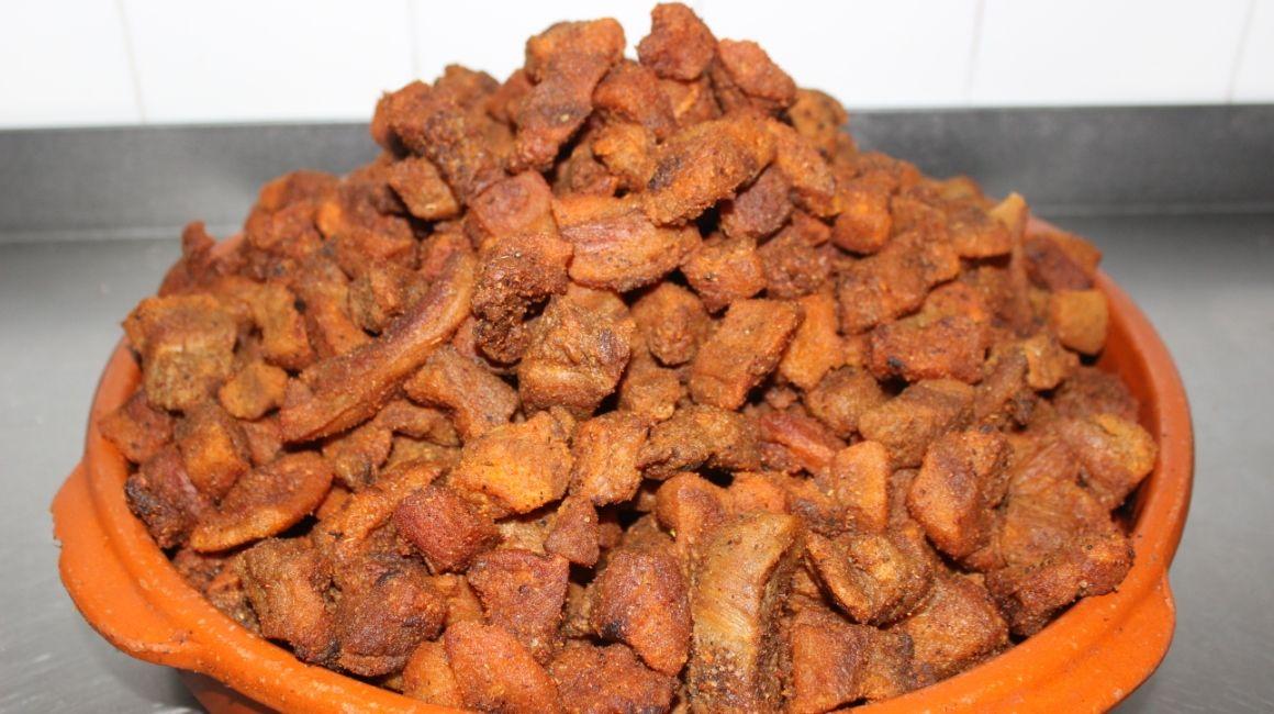 Foto de los chicharrones comida típica de chiclana