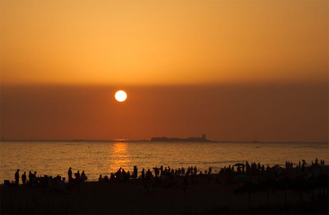 Puesta de sol en La Barrosa