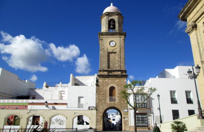 Vistas de la Torre del Reloj en Chiclana de la Frontera