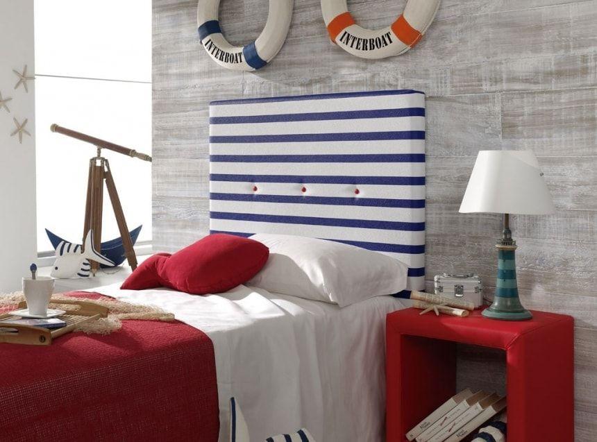 Decoración de un dormitorio estilo Marinero