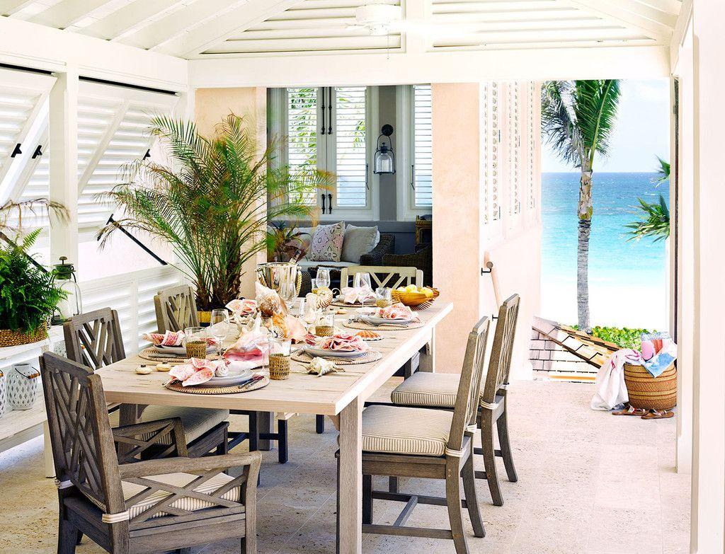 Porche casa playa con vistas al mar