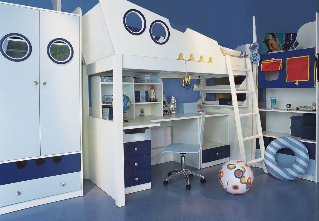 decoracion de dormitorio marinero para niños