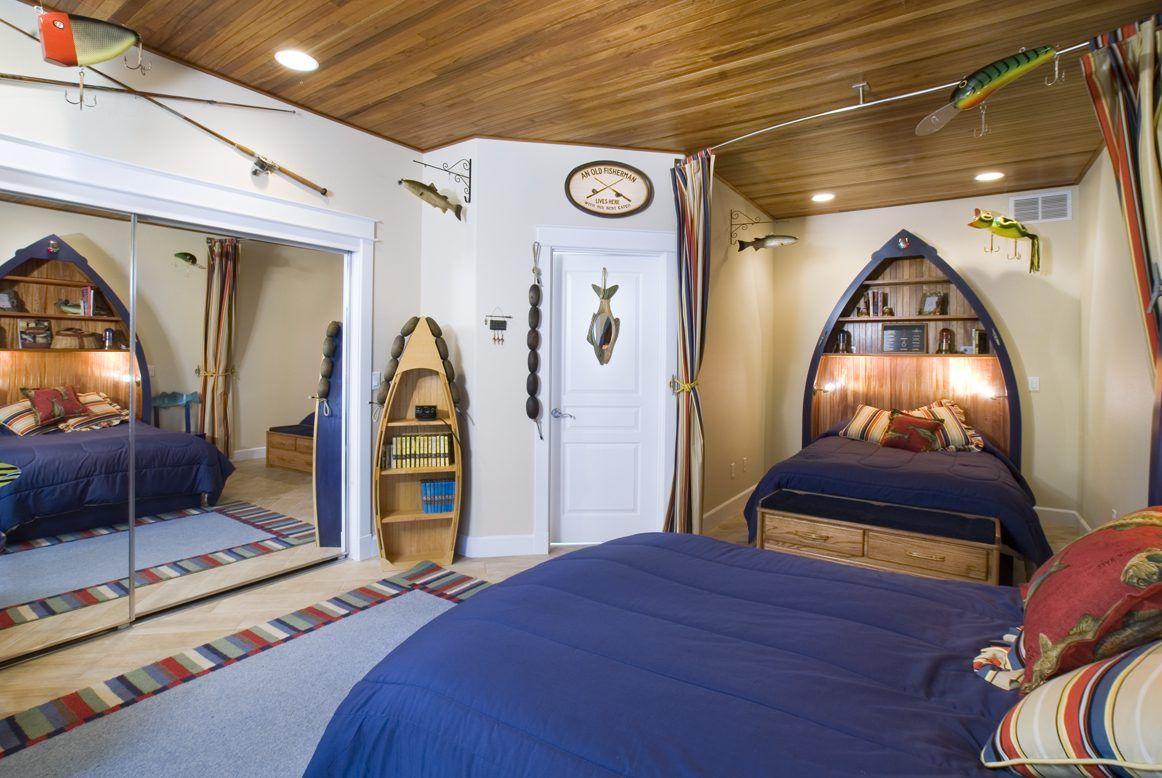 decoración de habitación estilo marinero