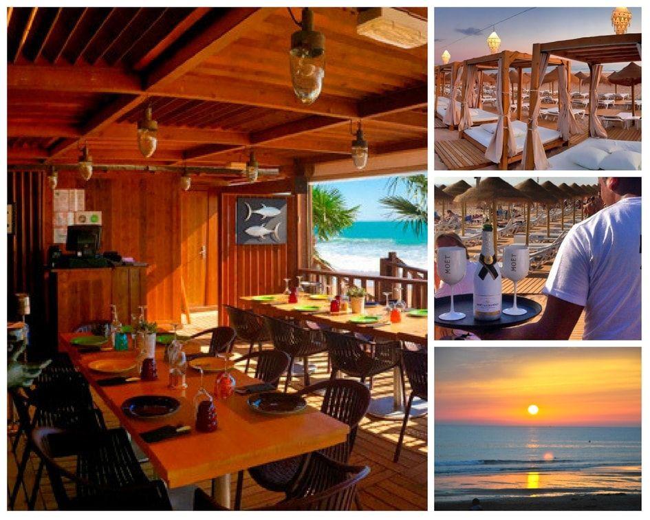 Playa Atenas beach club en Chiclana de la Frontera