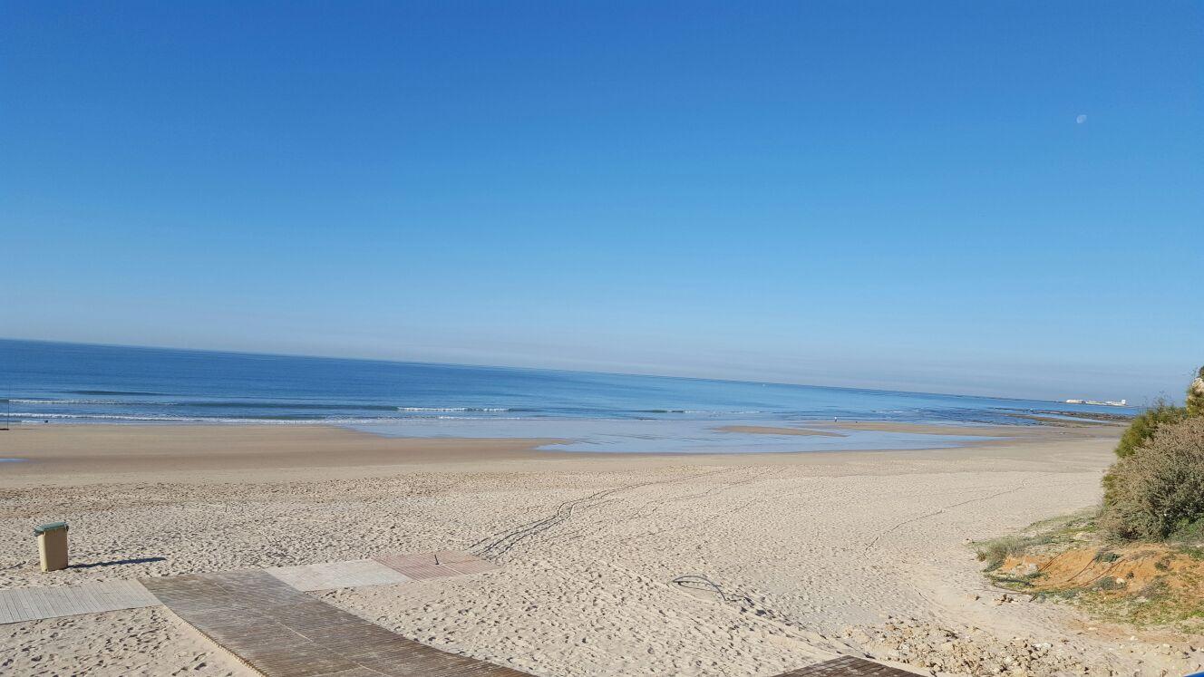 Playa de la barrosa vista solitaria
