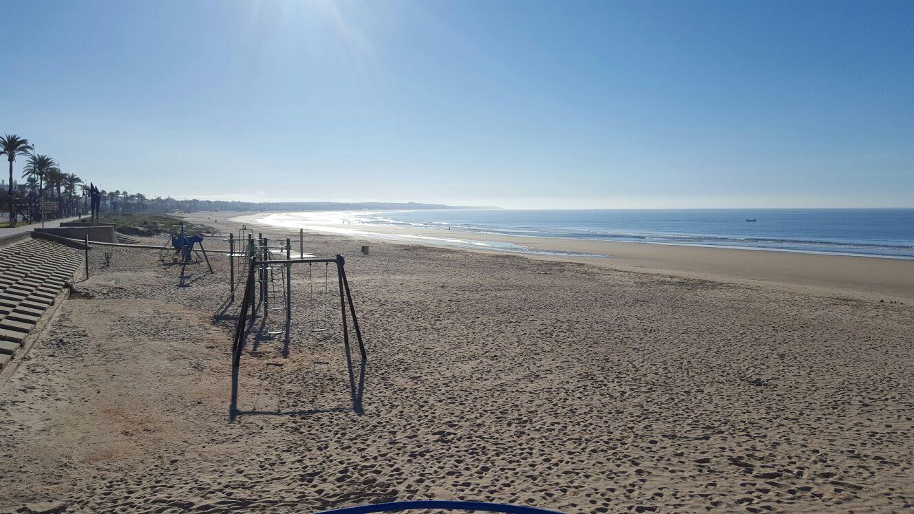 Playa de La Barrosa parque infantil