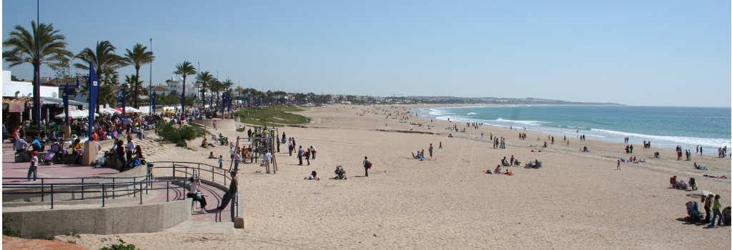 playa de La Barrosa en Chiclana de la Frontera