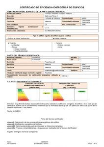 Registración y como conseguir el certificado energético